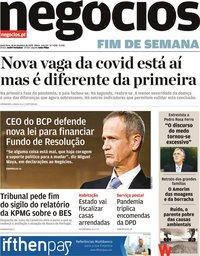 capa Jornal de Negócios de 18 setembro 2020