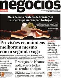 capa Jornal de Negócios de 22 setembro 2020