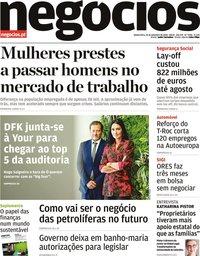 capa Jornal de Negócios de 24 setembro 2020