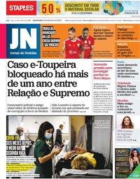 capa Jornal de Notícias de 2 setembro 2020