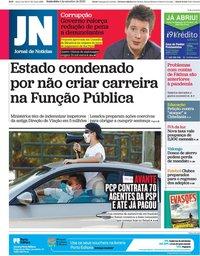 capa Jornal de Notícias de 4 setembro 2020