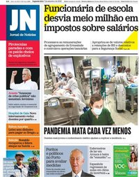 capa Jornal de Notícias de 7 setembro 2020