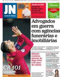 capa Jornal de Notícias de 9 setembro 2020