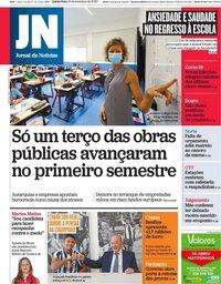 capa Jornal de Notícias de 10 setembro 2020