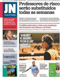 capa Jornal de Notícias de 11 setembro 2020