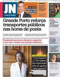 capa Jornal de Notícias de 12 setembro 2020