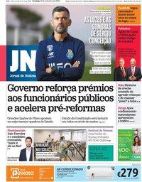 capa Jornal de Notícias de 13 setembro 2020