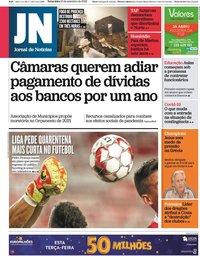 capa Jornal de Notícias de 15 setembro 2020