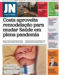 capa Jornal de Notícias de 17 setembro 2020
