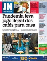 capa Jornal de Notícias de 21 setembro 2020