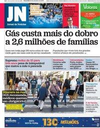 capa Jornal de Notícias de 22 setembro 2020
