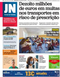 capa Jornal de Notícias de 24 setembro 2020