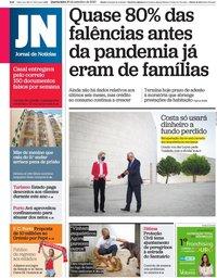 capa Jornal de Notícias de 30 setembro 2020