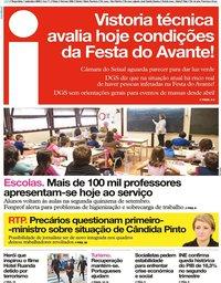 capa Jornal i de 1 setembro 2020