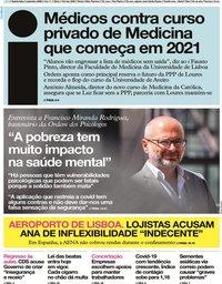 capa Jornal i de 3 setembro 2020