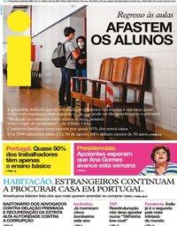 capa Jornal i de 8 setembro 2020