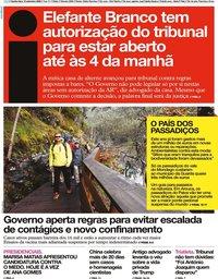 capa Jornal i de 10 setembro 2020