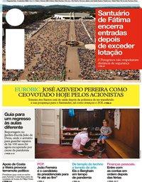 capa Jornal i de 14 setembro 2020