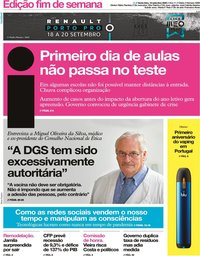 capa Jornal i de 18 setembro 2020