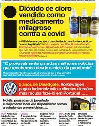 capa Jornal i de 21 setembro 2020
