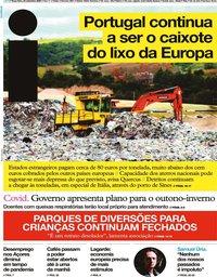 capa Jornal i de 22 setembro 2020