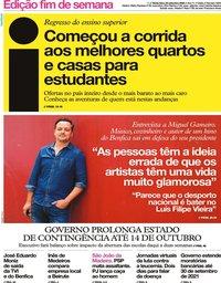 capa Jornal i de 25 setembro 2020