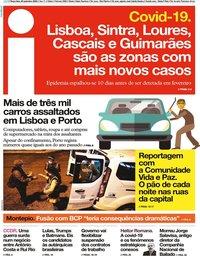 capa Jornal i de 29 setembro 2020