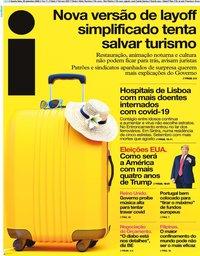 capa Jornal i de 30 setembro 2020