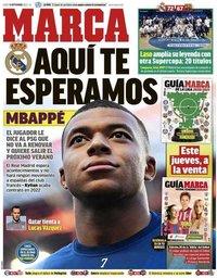 capa Jornal Marca de 14 setembro 2020