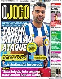 capa Jornal O Jogo de 1 setembro 2020