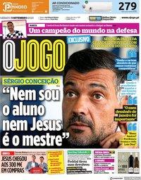 capa Jornal O Jogo de 5 setembro 2020
