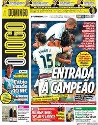 capa Jornal O Jogo de 6 setembro 2020