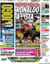 capa Jornal O Jogo de 7 setembro 2020