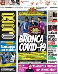 capa Jornal O Jogo de 12 setembro 2020