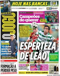 capa Jornal O Jogo de 25 setembro 2020