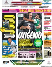 capa Jornal O Jogo de 28 setembro 2020
