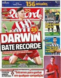 capa Jornal Record de 1 setembro 2020