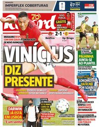 capa Jornal Record de 3 setembro 2020