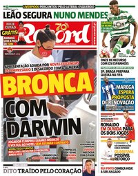 capa Jornal Record de 4 setembro 2020