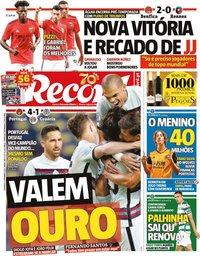 capa Jornal Record de 6 setembro 2020