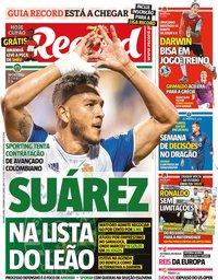 capa Jornal Record de 7 setembro 2020