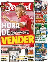 capa Jornal Record de 8 setembro 2020