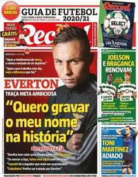 capa Jornal Record de 11 setembro 2020