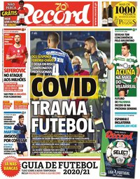 capa Jornal Record de 12 setembro 2020