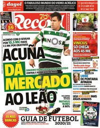capa Jornal Record de 13 setembro 2020