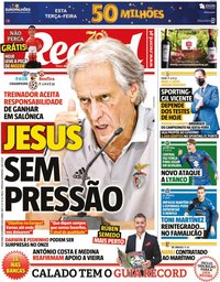 capa Jornal Record de 15 setembro 2020