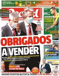 capa Jornal Record de 17 setembro 2020