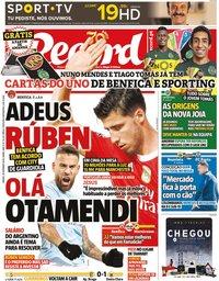 capa Jornal Record de 26 setembro 2020