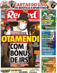 capa Jornal Record de 29 setembro 2020