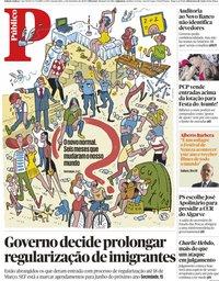 capa Público de 2 setembro 2020